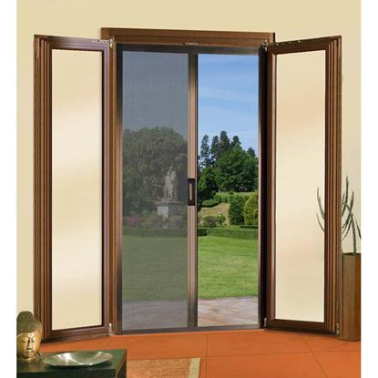 Immagine di Zanzariera a rullo,  per porta laterale,  140x250 cm, marrone