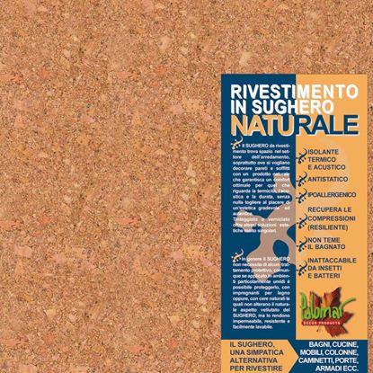Immagine di Rivestimento in sughero, lastra 30x30 cm, spessore 2 mm, aspetto agglomerato di medie dimensioni, superficie a vista grezza, confezione da 11 pezzi