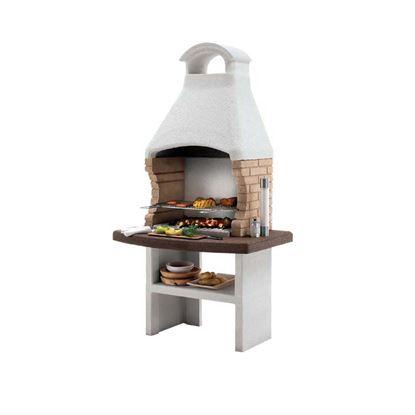 Immagine di Barbecue Palazzetti Brest 2 legna/carbonella 110x77xh210 cm