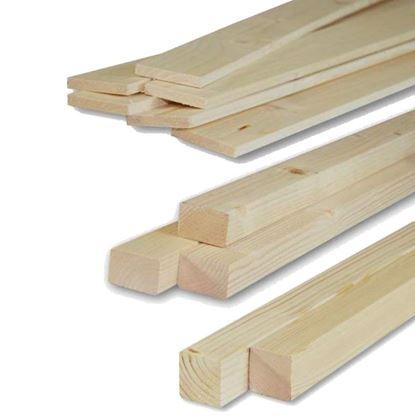 Immagine di Listelli abete,  piallati su 4 lati, 40x60x3000 mm