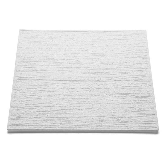 Immagine di Pannello per soffitto, in polistirolo, spessore 6 mm, 50x50 cm, confezione 8 pezzi, pari a 2 m², T 80