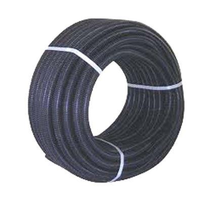 Immagine di Tubo corrugato, colore nero, c/tirafilo 25 mt, Ø32 mm