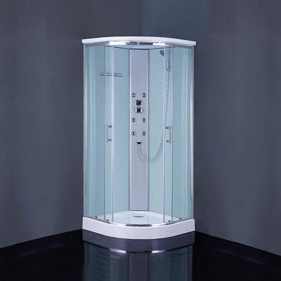 Immagine di Cabina doccia idromassaggio Orsola, 6 getti, 90x90x215 cm, vetro 4 mm