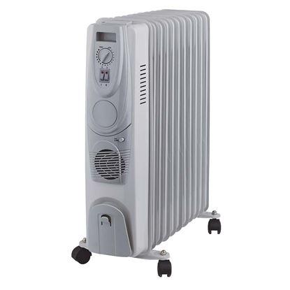 Immagine di Elettroradiatore 11 elementi ad olio 3 regolazioni di potenza 800/ 1200/ 2000, termostato ambiente regolabile, ventilato, ruote, con turbo