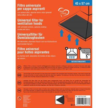 Immagine di Filtro cappa, carboni attivi, colore nero, 45x57 cm