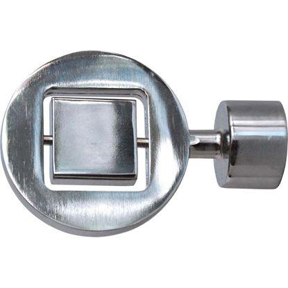 Immagine di Terminale Disco, Easy Contemporaneo, Ø 20 mm, 2 pezzi, nickel