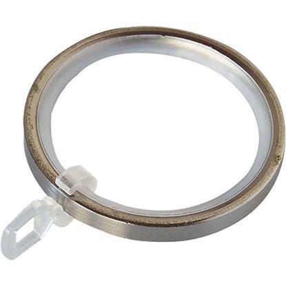 Immagine di Anelli ferro, Easy Contemporaneo, con guaina e gancetto, Ø 32 mm, nickel