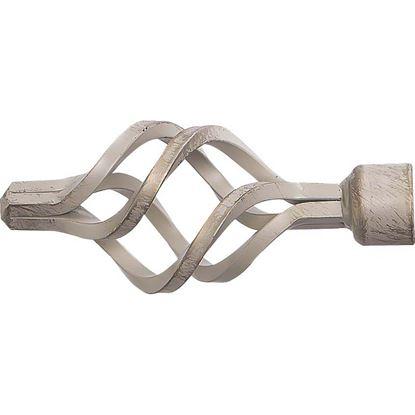 Immagine di Terminale Croco, Easy Basico, Ø 20 mm, 2 pezzi, colore avorio/oro