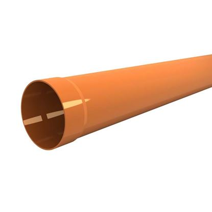 Immagine di Tubo in PVC, per scarichi civili ed industriali F/N, colore arancio, Ø mm 80x2 mt