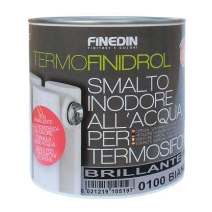 Immagine di SMALTO TERMOFINIDROL PER TERMOSIFONI, ALL'ACQUA INODORE, COLORE BIANCO, SATINATO, 0,75 LT